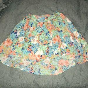 Floral boho skirt- S